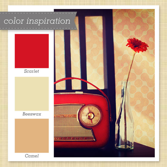 Red And Tan Color Palette