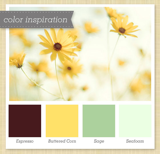 Yellow Brown And Green Color Palette