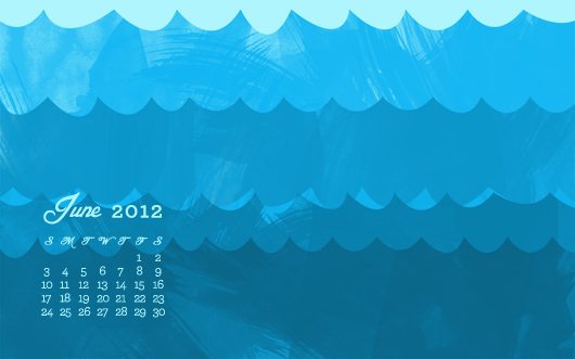 free june 2012 summer wallpaper with calendar