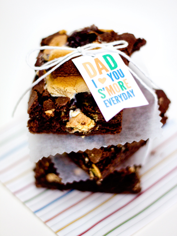 father's day gift s'mores brownies