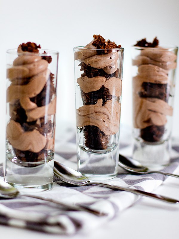 Chocolate Mousse And Brownie Shot Glass Dessert Sarah Hearts
