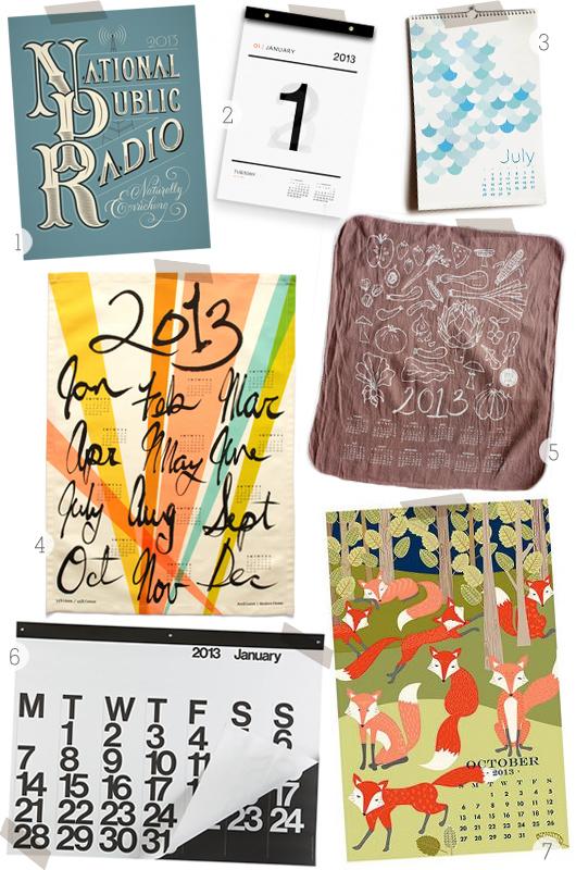 2013 Calendar Round-Up via sarahhearts.com