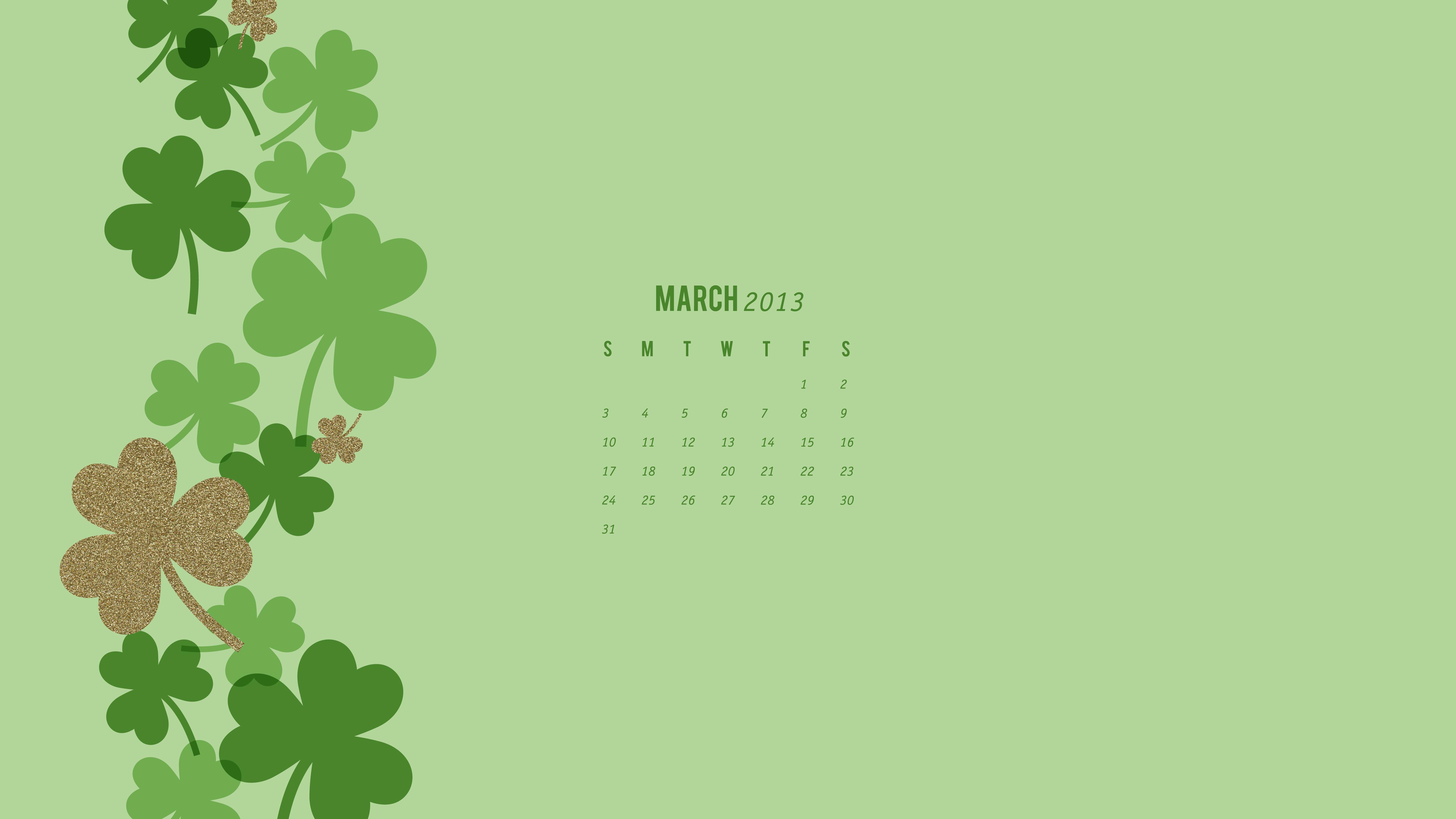 March 2013 Calendar Wallpaper