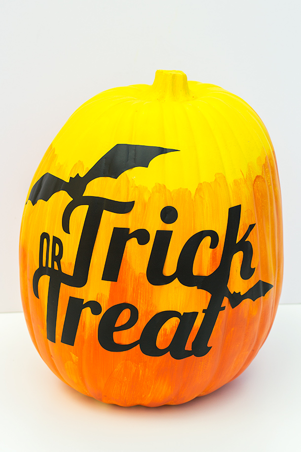Diy trick or treat ombre pumpkin sarah hearts for Trick or treat pumpkin template