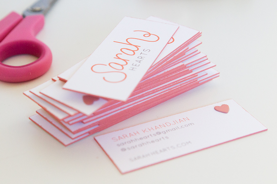 Business cards diy crafting diy colored edge business cards sarah hearts colourmoves