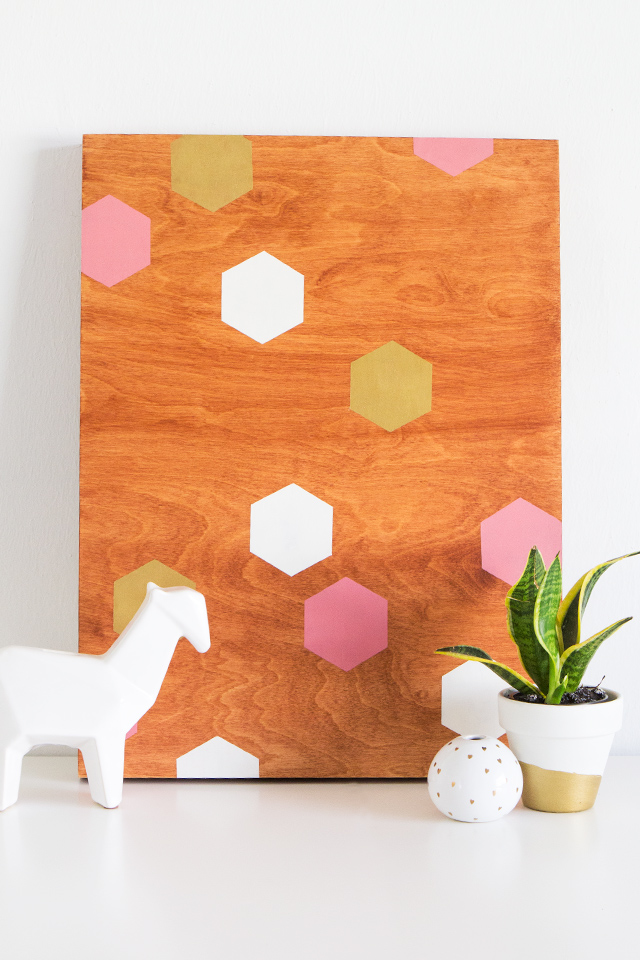 Diy Geometric Wood Panel Wall Art Sarah Hearts