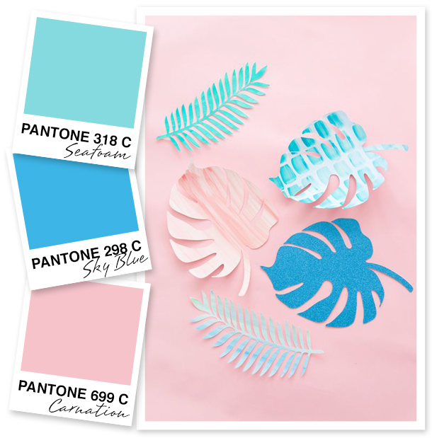 Seafoam Blue And Pink Color Palette
