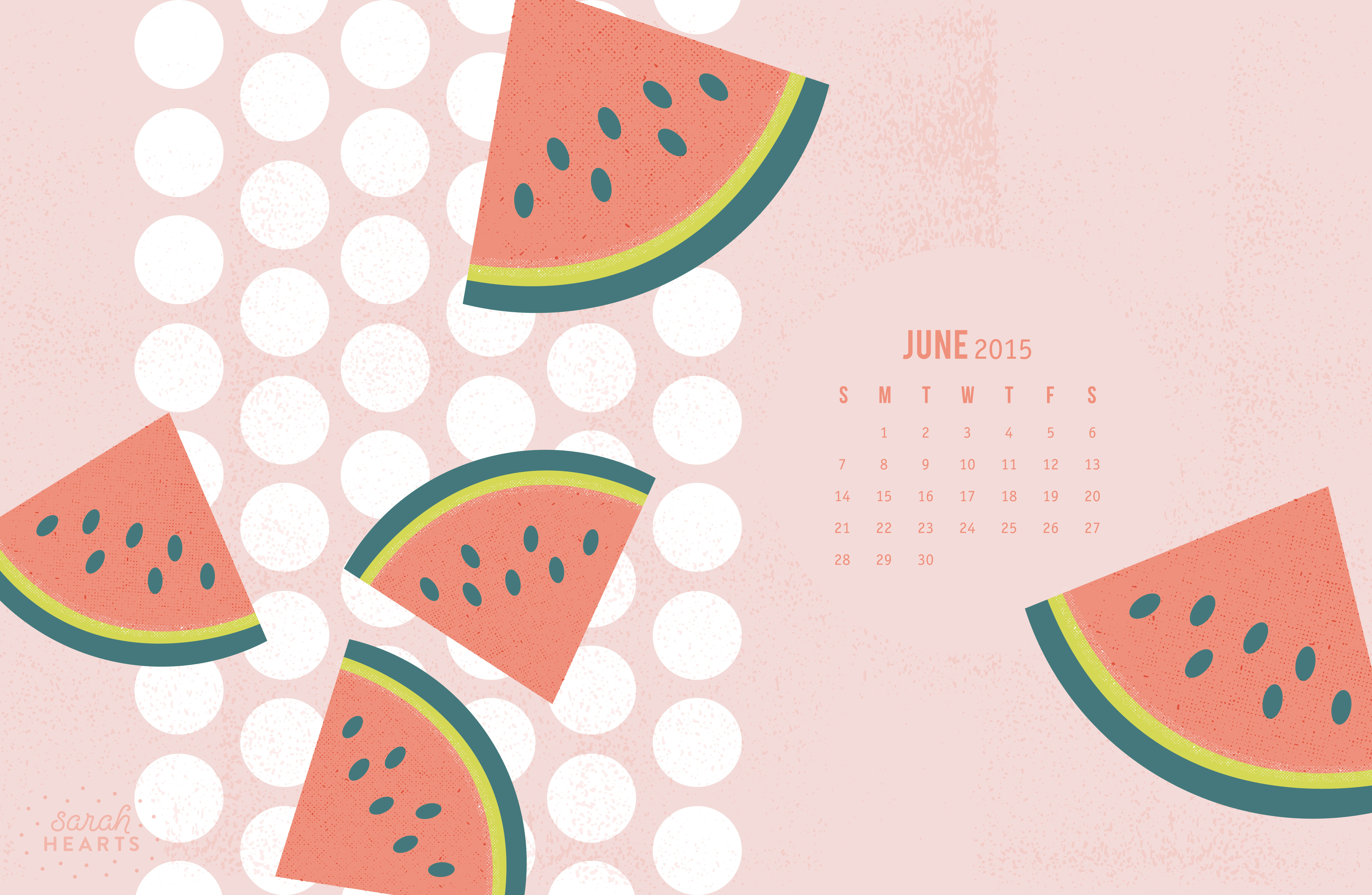 June 2015 calendar wallpaper sarah hearts for Wallpaper home 2015