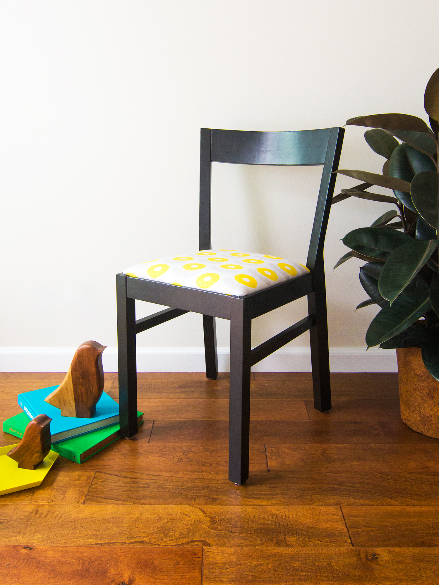 Give Life To Old Chairs With Your Very Own Custom Printed Fabric! (Click  Through. Our Dining Room Table Was ...