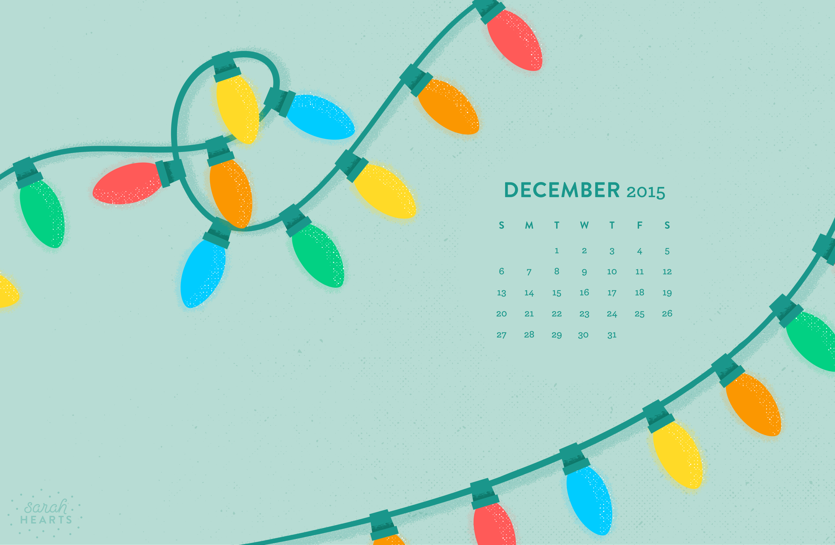 December 2015 Calendar Wallpaper Sarah Hearts