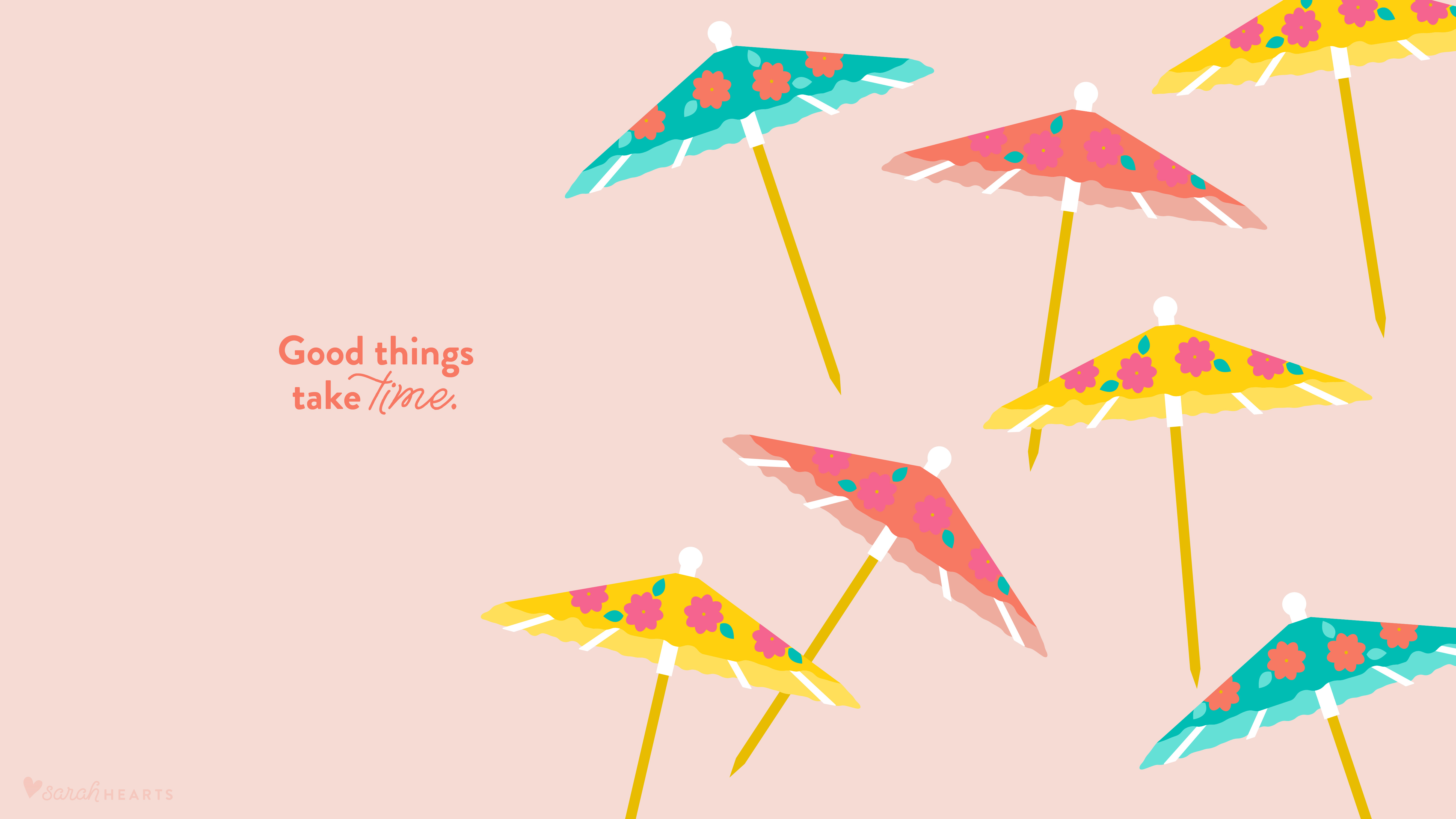 Calendar Wallpaper Maker : August drink umbrella wallpaper sarah hearts