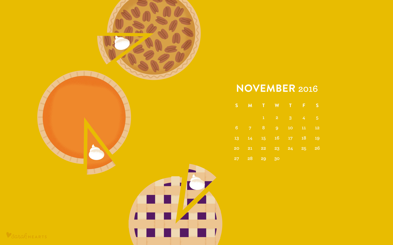 Iphone Calendar Wallpaper November : November pie calendar wallpaper sarah hearts