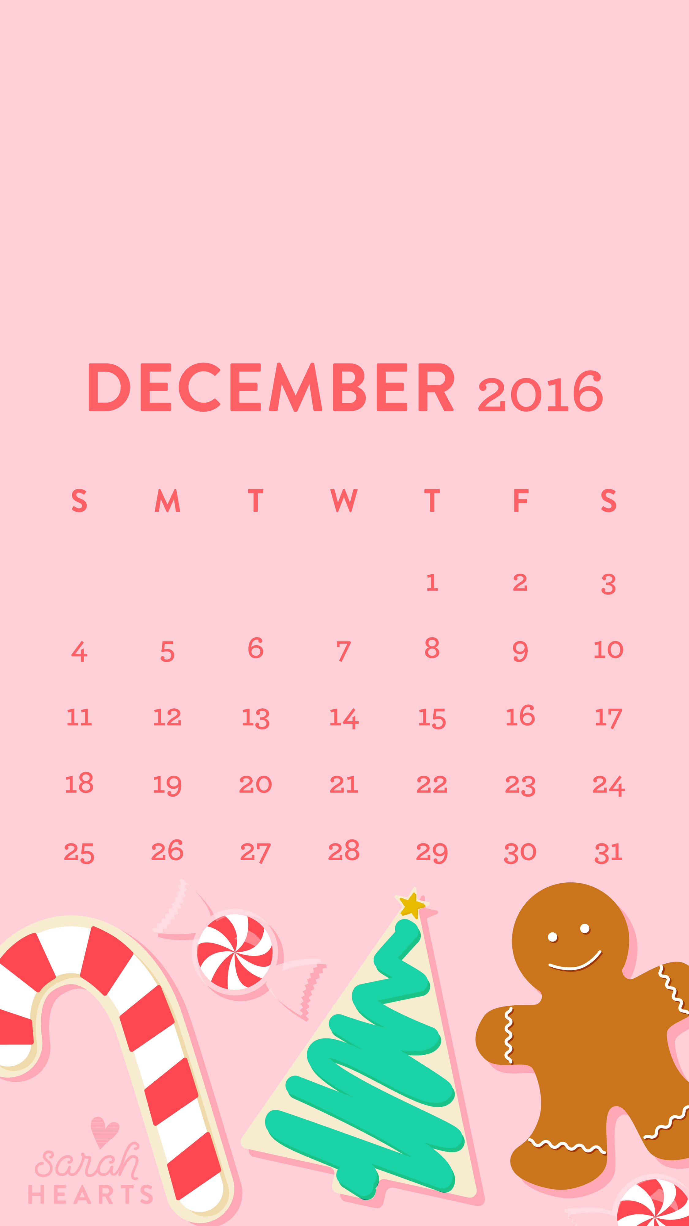 12 2016 wallpaper iphone calendar