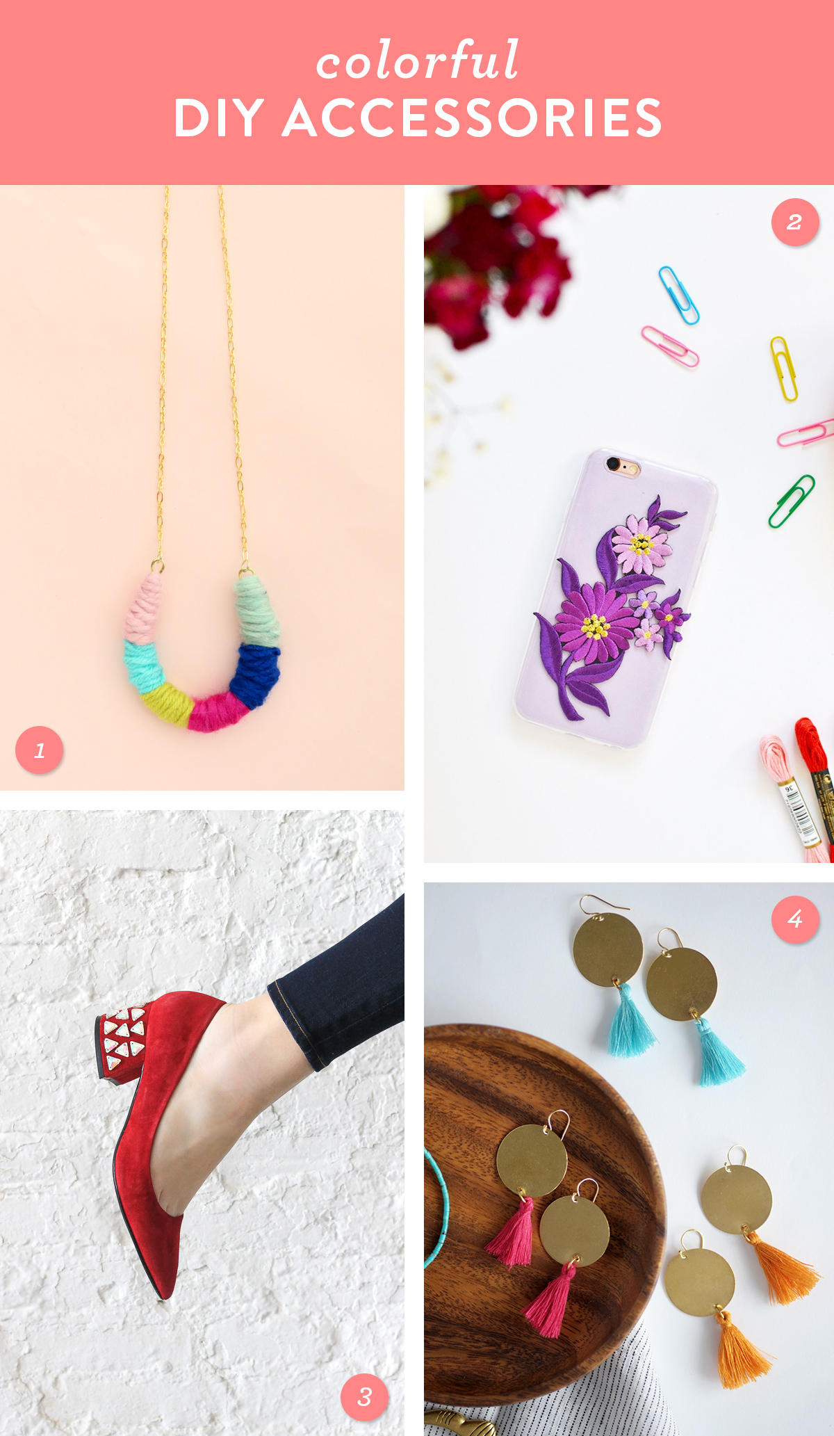 Treat yourself to one of these cute and colorful DIY accessories!