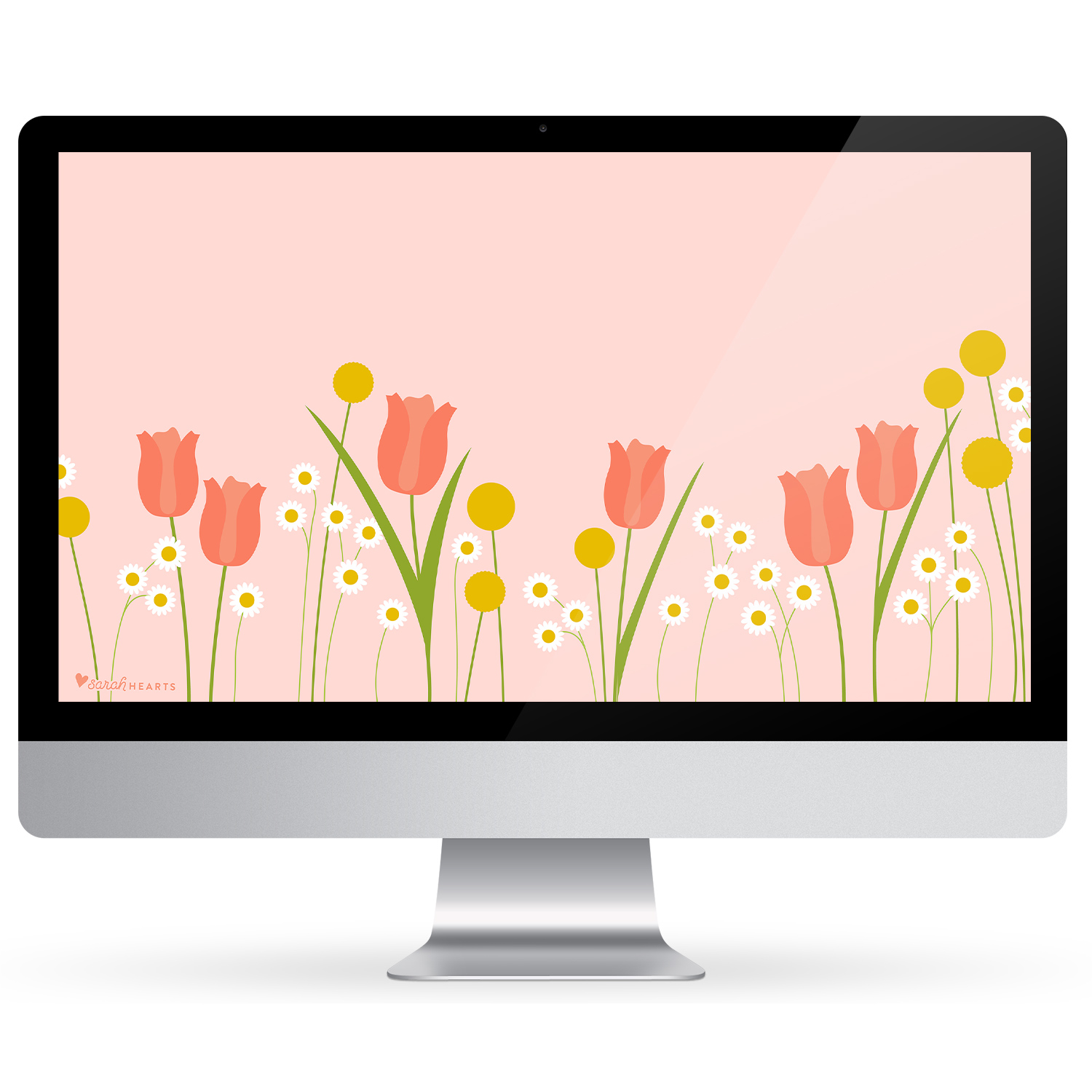 Add beautiful spring flowers to your computer, phone and tablet with this free wallpaper.