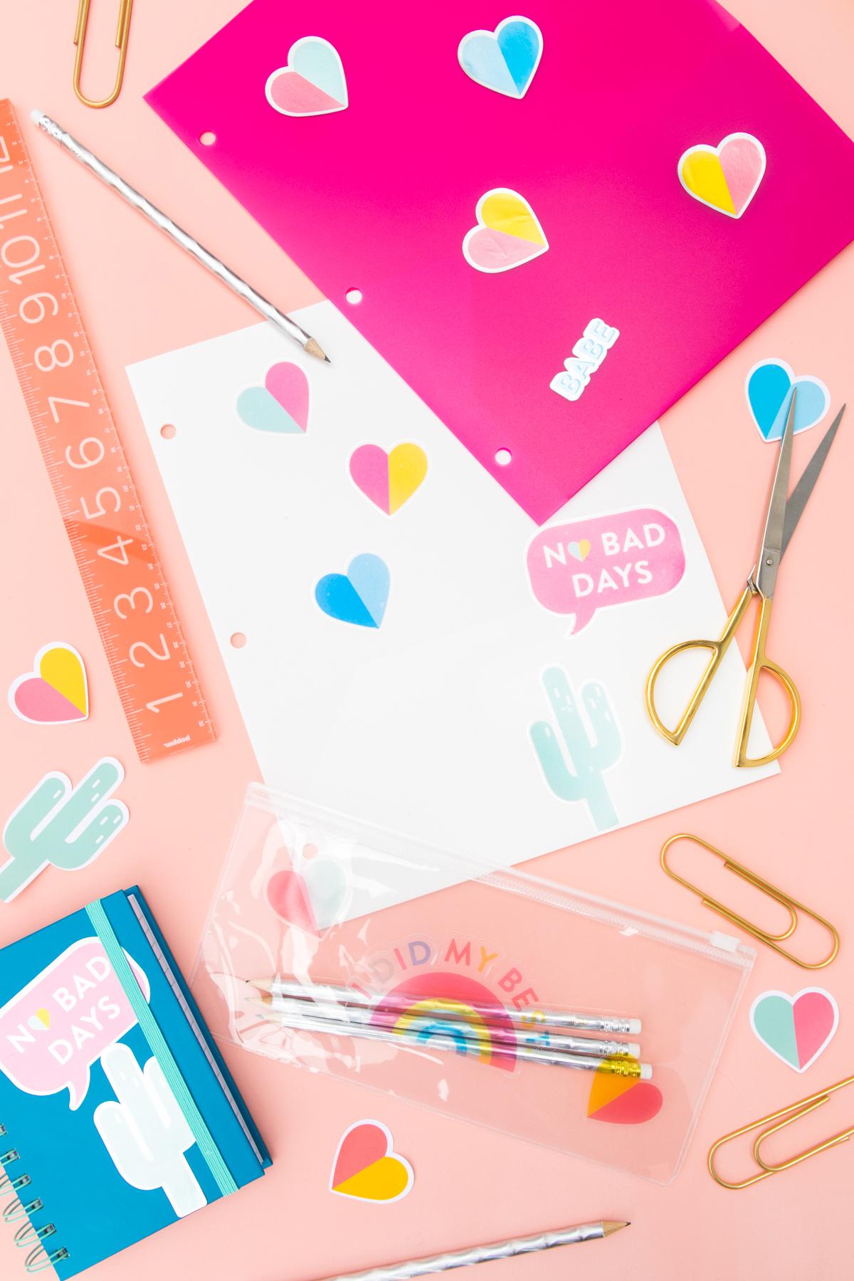 Diy Printable Rainbow Sticker Sheets Sarah Hearts