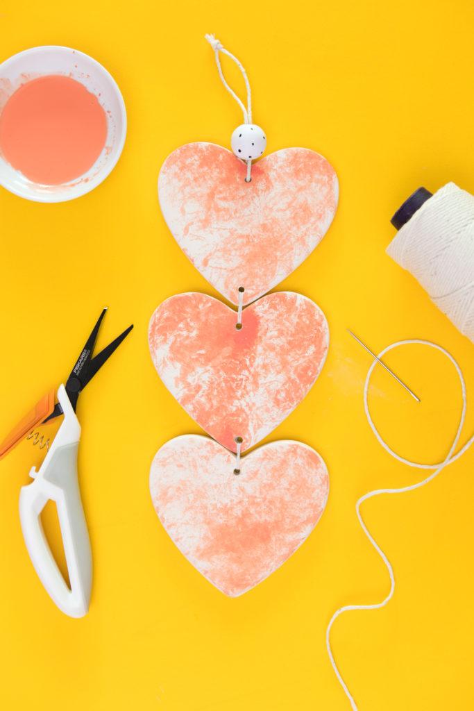 Diy Ceramic Heart Wall Hanging Sarah Hearts