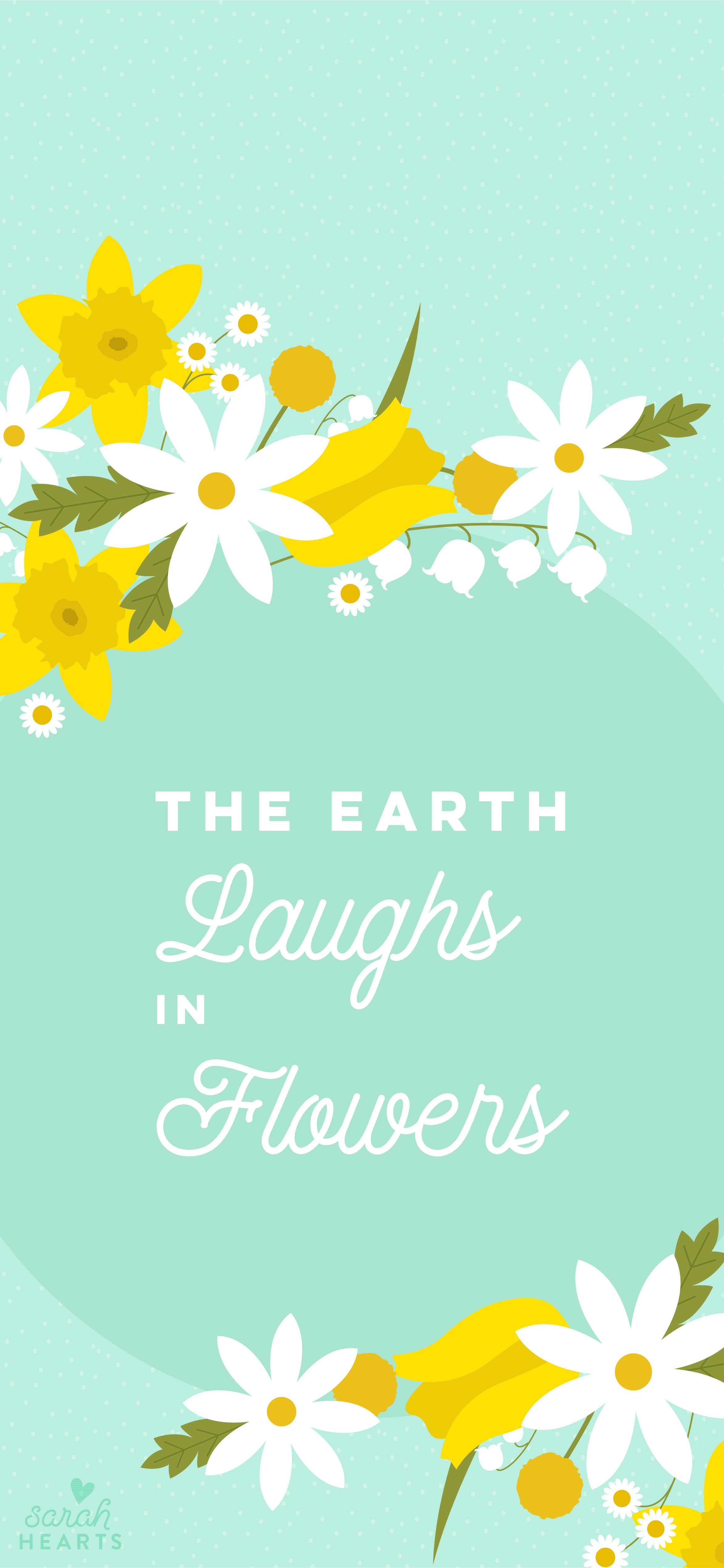 March 2018 Spring Flower Calendar Wallpaper Sarah Hearts