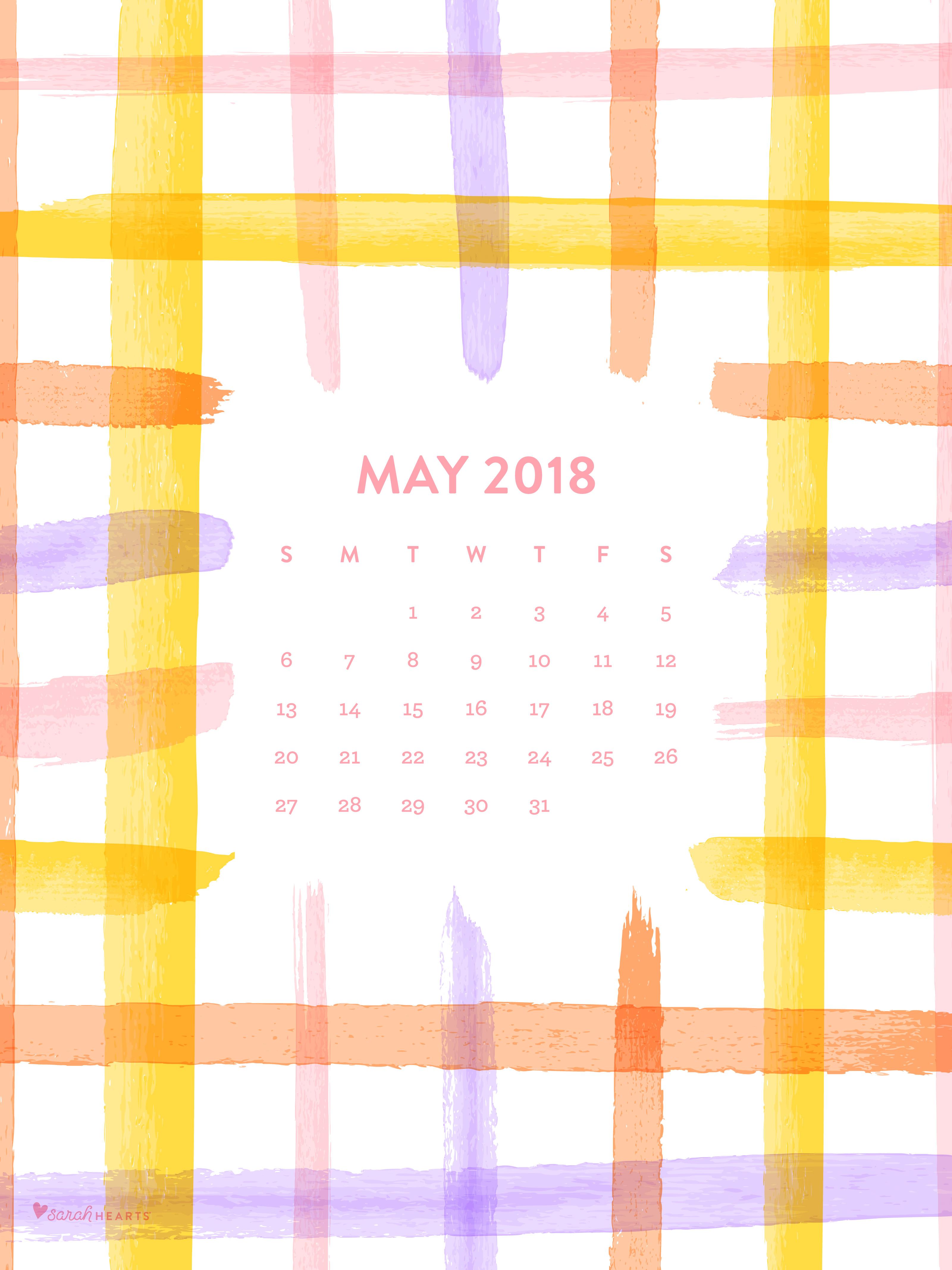 Calendar Wallpaper Ipad : May spring plaid calendar wallpaper sarah hearts