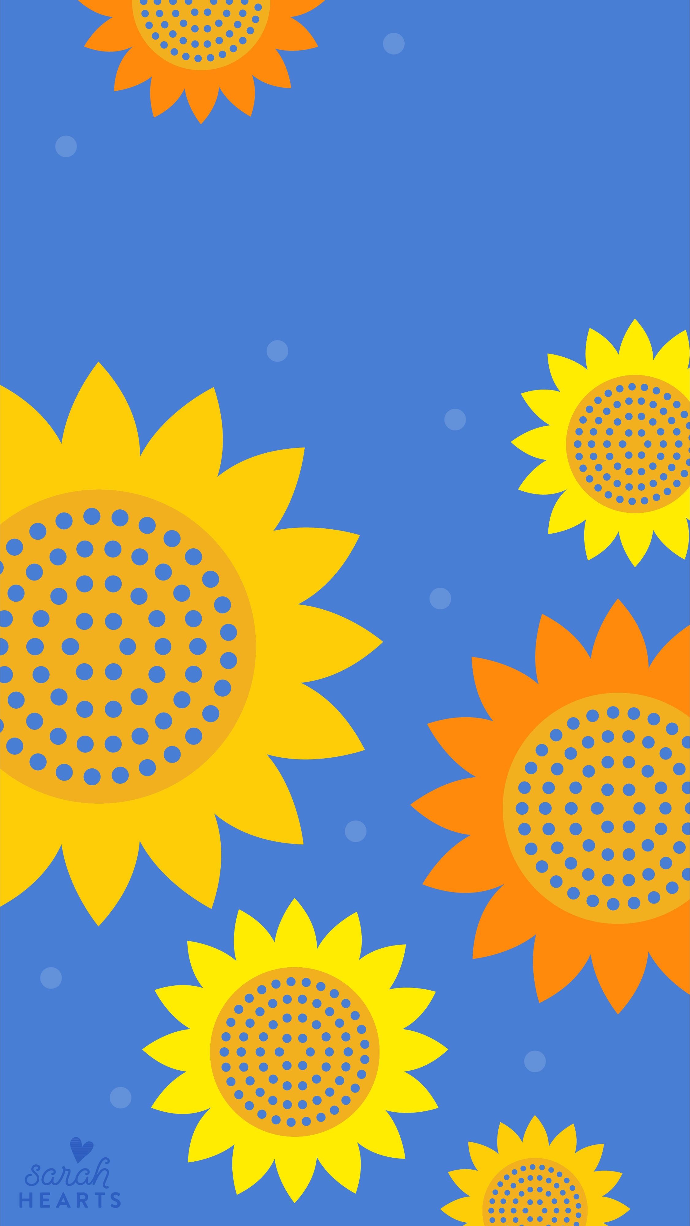 September 2018 Sunflower Calendar Wallpaper Sarah Hearts