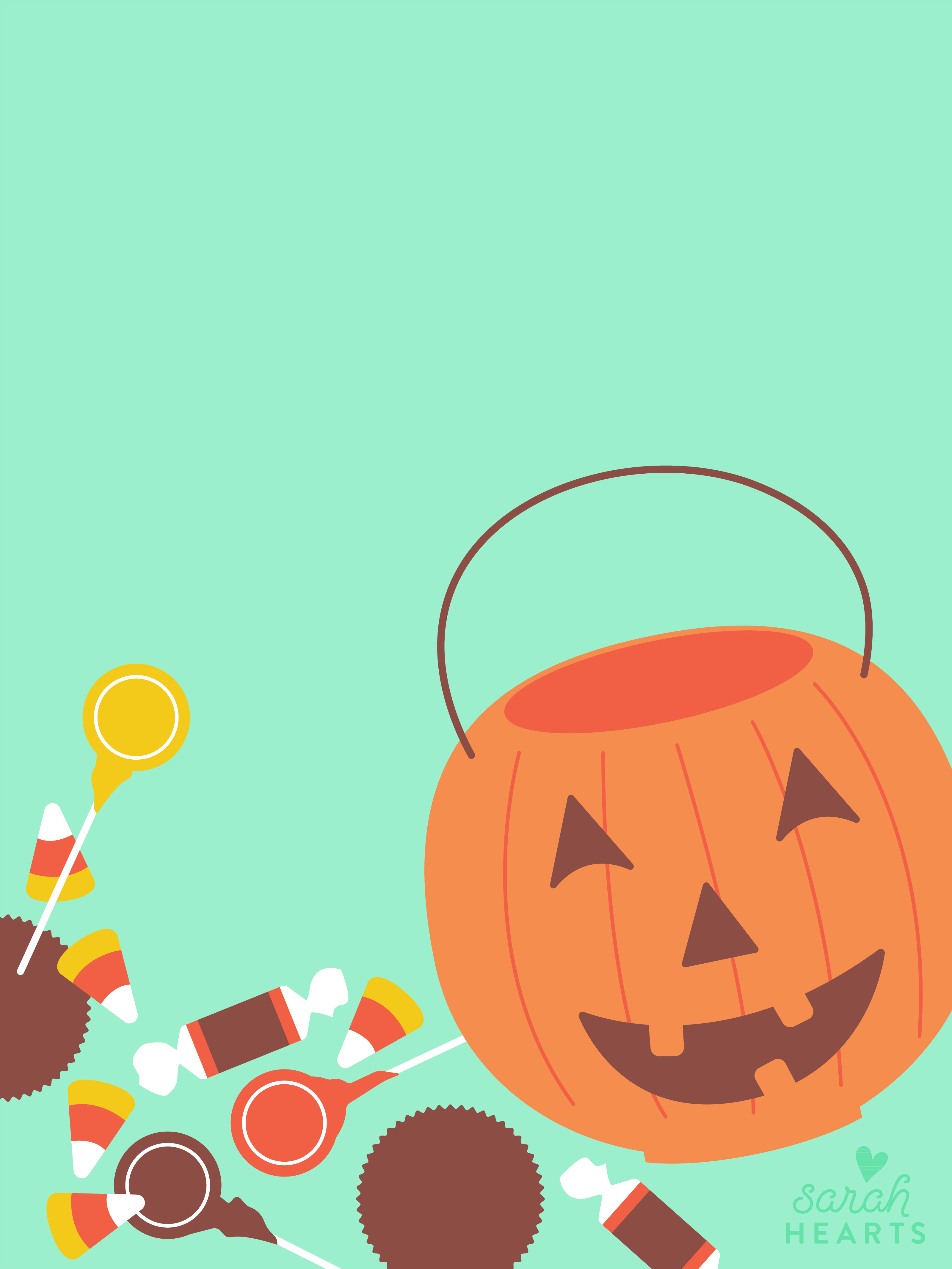 October 21 Halloween Candy Calendar Wallpaper   Sarah Hearts