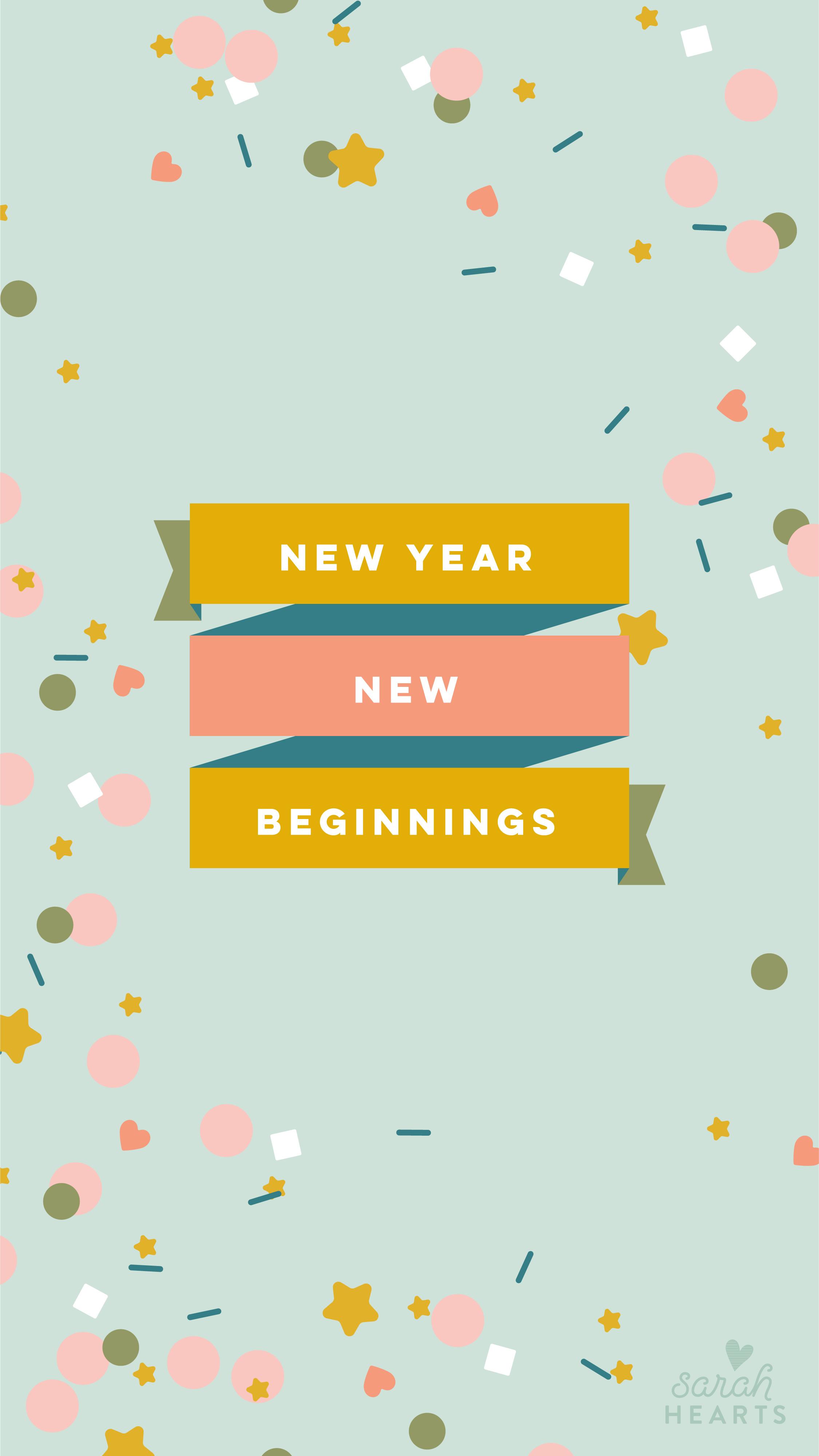 January 2019 Confetti Calendar Wallpaper Sarah Hearts