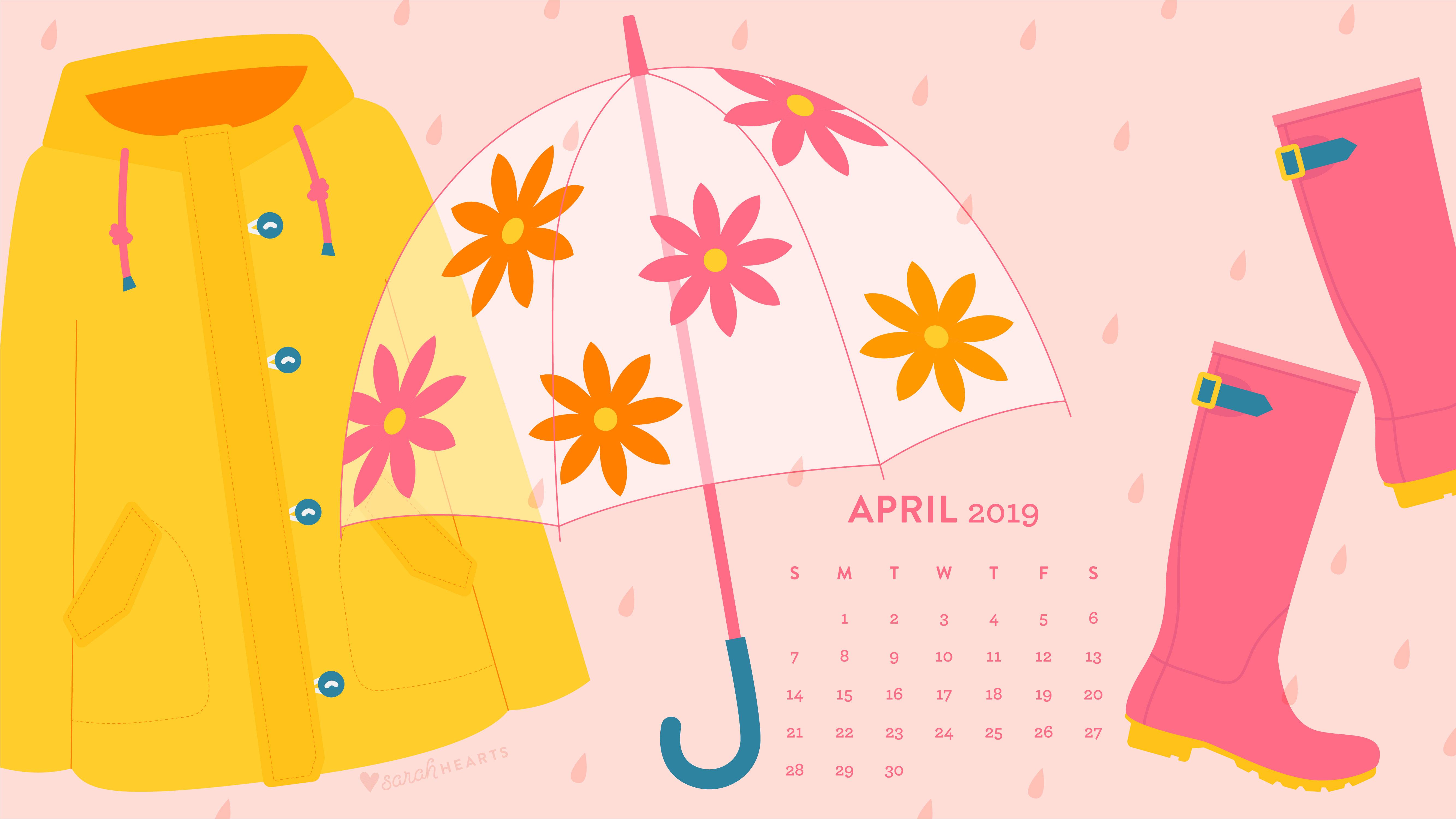April 2019 Calendar Wallpaper Sarah Hearts