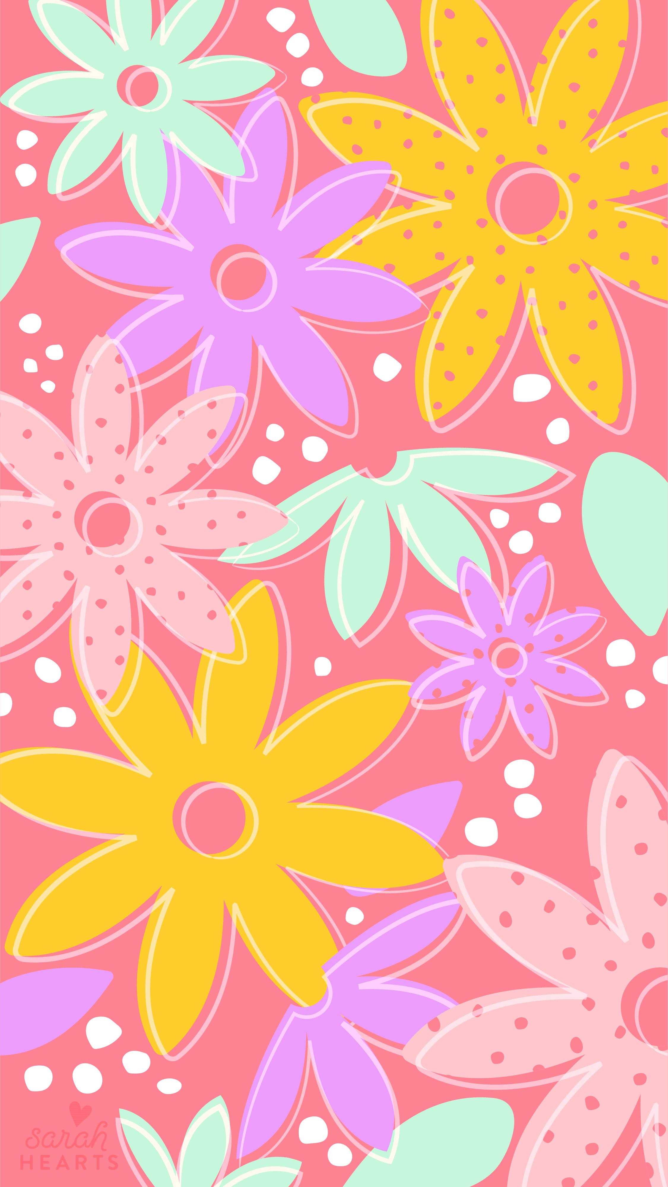May 2019 Flower Calendar Wallpaper Sarah Hearts